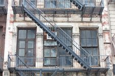 Old Fire Staircase Royalty Free Stock Photography