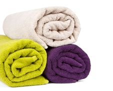 Free Rolled Up Colorful Towels Royalty Free Stock Images - 19663419