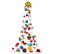 Christmas Tree Icon Set Royalty Free Stock Photo