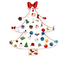 Free Christmas Tree Icon Set Royalty Free Stock Photography - 19664047