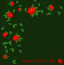 Valentine With Red Rose Royalty Free Stock Photo