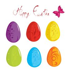 Free Easter Eggs Royalty Free Stock Photo - 19664115