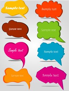 Colorful Hand Drawn Speech Stock Photo