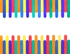 Free Colorful Wood Ice-cream Stick Stock Images - 19664834