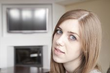Free Young Woman At Home Stock Photo - 19666260