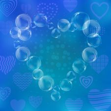 Free Valentine Heart From Bubbles Royalty Free Stock Images - 19666269