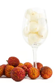 Free Litchi In Wine Glass Royalty Free Stock Photos - 19666758