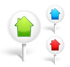 Free Home Icons Royalty Free Stock Photo - 19667185