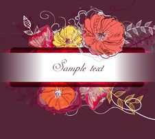 Free Watercolor Floral Background Stock Photos - 19668083