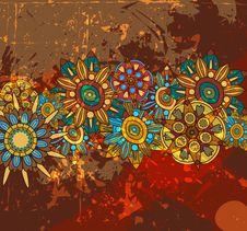 Free Abstract Floral Background Royalty Free Stock Images - 19668119
