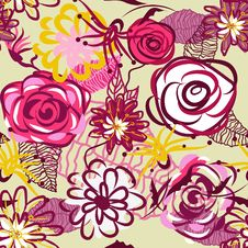 Free Abstract Floral Background Stock Image - 19668171