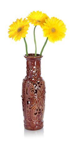 Gerbera In Vase Stock Photography