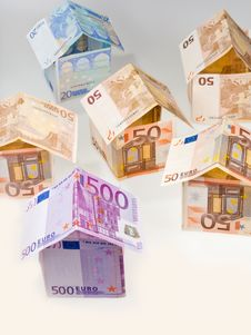 Free Houses From Euro Banknotes Stock Image - 19669501