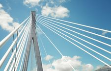 Free Fragment Of A Cable Stayed Bridge In Croatia Stock Image - 19669741