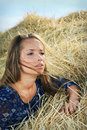 Free Girl In The Hay Stock Photography - 19671942