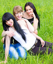Free Three Smiling Girl-friends Stock Photography - 19675932