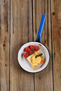 Free Scrambled Eggs On Toast Stock Photography - 19678592