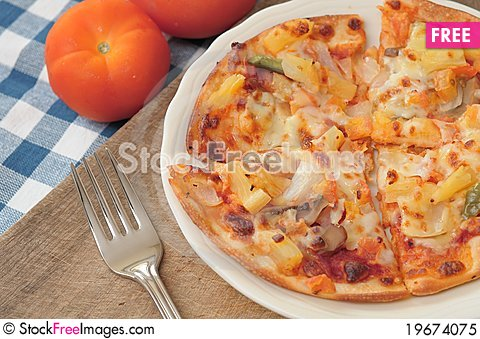 Free Vegetarian Pizza Royalty Free Stock Photo - 19674075