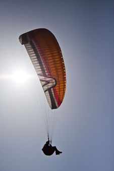 Free Silhouette Of Paraglider Stock Image - 19670181