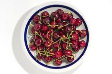 Free Plate Of Cherries Stock Image - 19671151