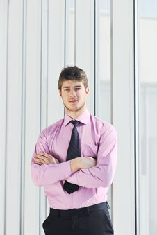 Free Young Business Man Talk By Cellphone Royalty Free Stock Image - 19671796