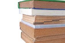 Free Books On White Royalty Free Stock Photo - 19671905