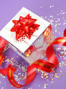Gift And Tape Stock Photography