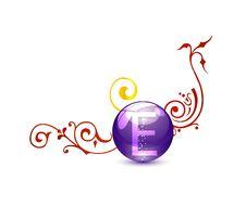 Decorative Medic Vitamin Sign Royalty Free Stock Photo