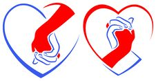 Friendship Logo Designs Stock Photo