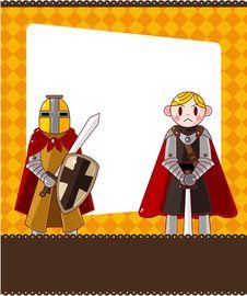 Free Cartoon Knight Card Stock Image - 19673161