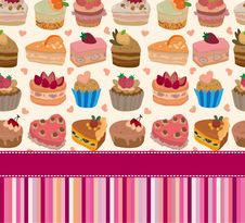 Free Cartoon Cake Card Stock Images - 19673174