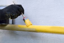 Free Painting Pipe Pipeline Royalty Free Stock Image - 19673306