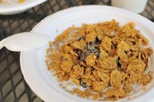 Healthy Cereal Breakfast Royalty Free Stock Photo
