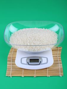 Free Kitchen Scale And Rice Royalty Free Stock Image - 19673876