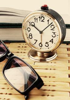 Free Book, Alarm, Clock Stock Images - 19674034
