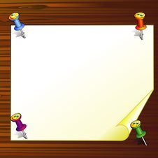 Paper On Wooden Board Stock Images