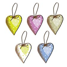 Free Hearts To Hang Different Color Royalty Free Stock Image - 19674176