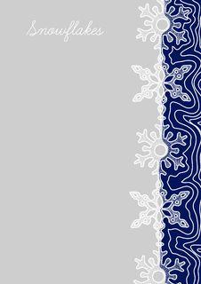 Free Strip Of  Snow Flakes Royalty Free Stock Photos - 19674198