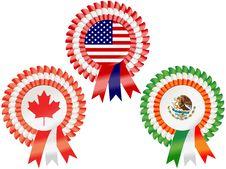 North American Rosettes Stock Photos