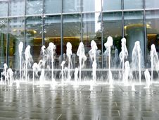 Fountains In City Stock Photos