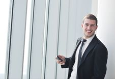 Free Young Business Man Talk By Cellphone Stock Image - 19675051