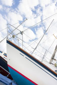 Free Yacht In A Boatyard Stock Image - 19675231