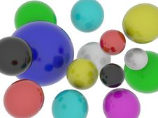 Shiny Spheres In Multiple Colour Royalty Free Stock Photography