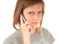 Free Young Woman Using Mobile Phone Royalty Free Stock Image - 19675366