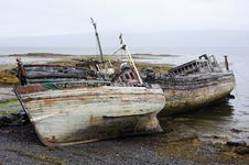 Free Decaying Boats Royalty Free Stock Photography - 19675477