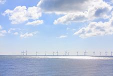 Free Lots Of Wind Turbines In A Row Stock Photos - 19675763