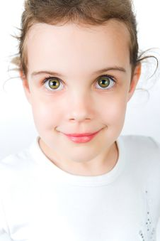 Free Portrait Of A Pretty Little Girl Stock Photos - 19676493