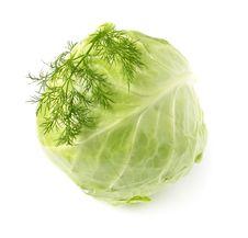 Free Fresh Cabbage On White Background Royalty Free Stock Photo - 19676655