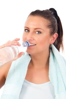Free Young Woman Drinking Water Stock Photos - 19676693