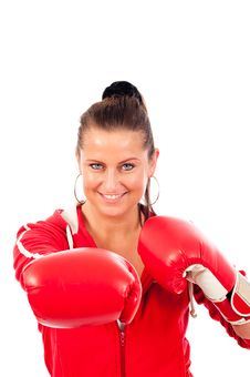 Free Young Woman Boxing Royalty Free Stock Images - 19676709